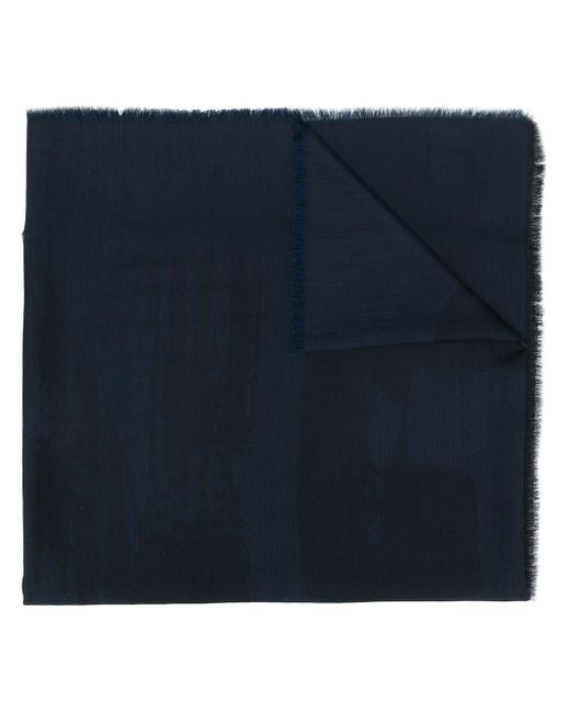 メンズ Z Zegna アブストラクトパターン スカーフ Blue