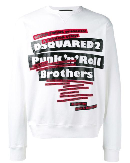 メンズ DSquared² Punk'n'roll Brothers スウェットシャツ Multicolor