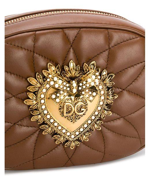 Dolce & Gabbana Devotion カメラバッグ Brown