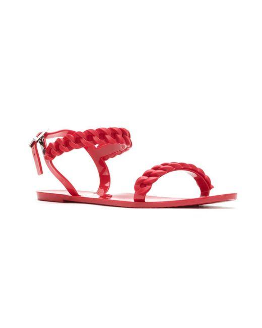 Blue Bird Shoes Red Sandalen mit Flechtdetails