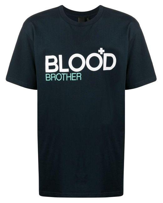 メンズ Blood Brother Trademark Tシャツ Blue