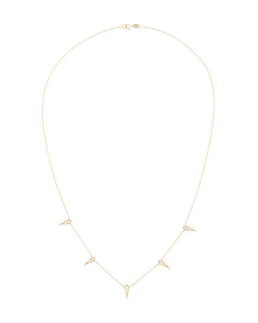 Lizzie Mandler Metallic 18kt Gold '5 Kite' Diamond Necklace
