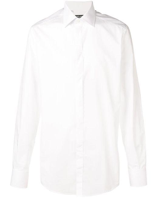 メンズ Dolce & Gabbana テーラード シャツ White