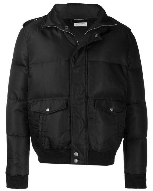 メンズ Saint Laurent パデッド ボンバージャケット Black
