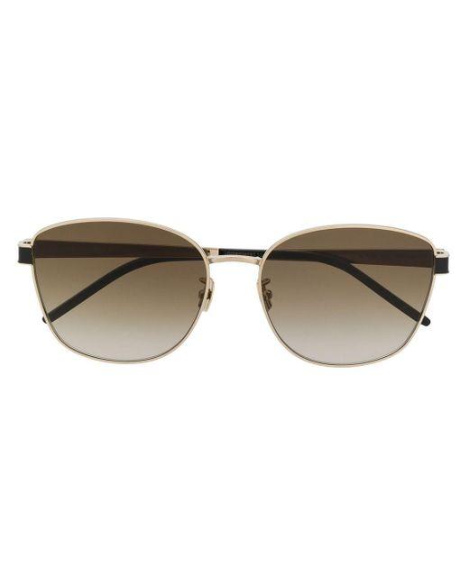 Солнцезащитные Очки Sl M67 Saint Laurent, цвет: Metallic