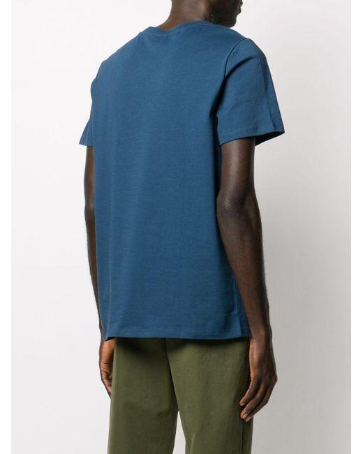 メンズ A.P.C. ロゴ Tシャツ Blue