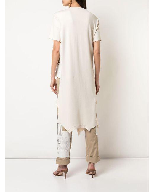 Monse ロングライン Tシャツ Natural
