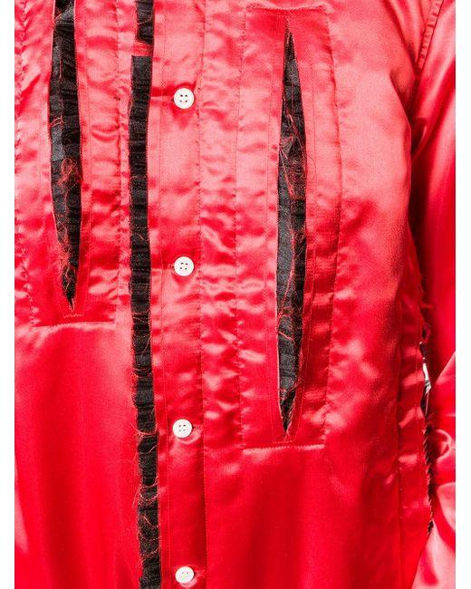 Comme des Garçons ラッフル シャツ Red