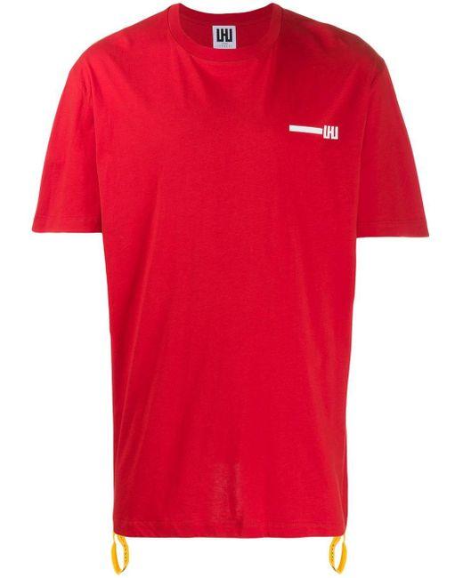 メンズ Les Hommes プリント Tシャツ Red