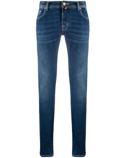 メンズ Jacob Cohen Comfort Tailored スリムジーンズ Blue