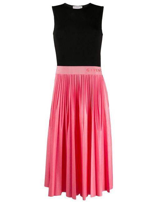 Givenchy ロゴ プリーツドレス Pink