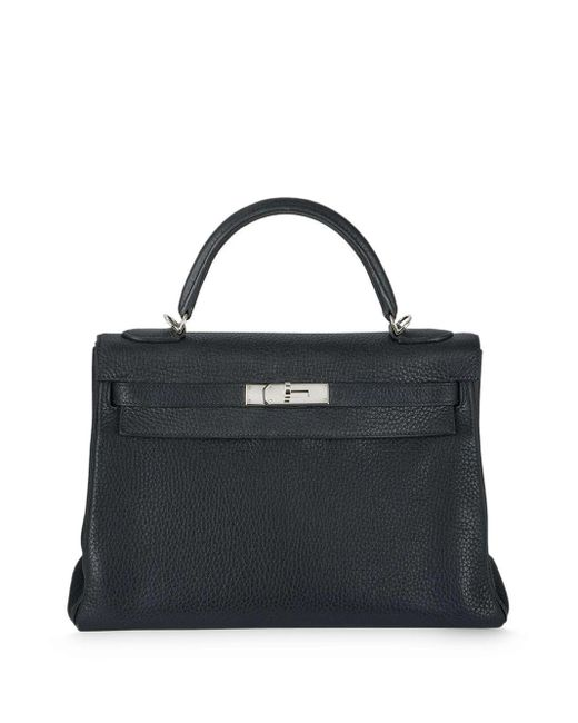 Сумка Kelly 32 С Ремнем Fendi Hermès, цвет: Blue