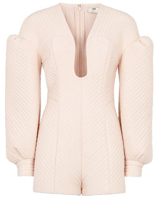 Приталенный Комбинезон Chevron Fendi, цвет: Pink
