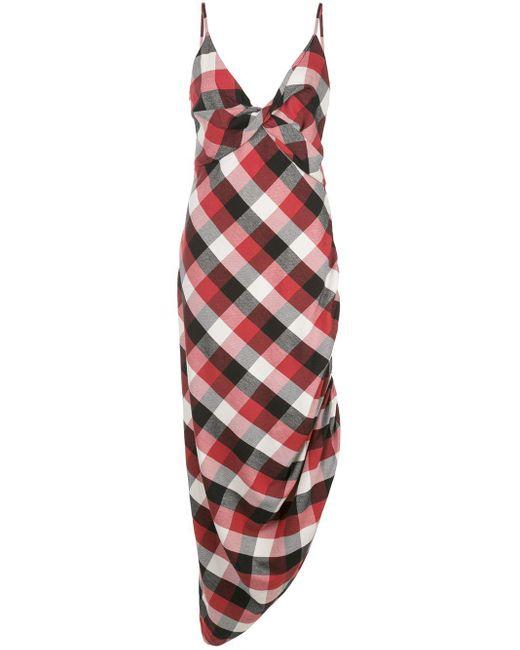 Monse チェック ドレス Red