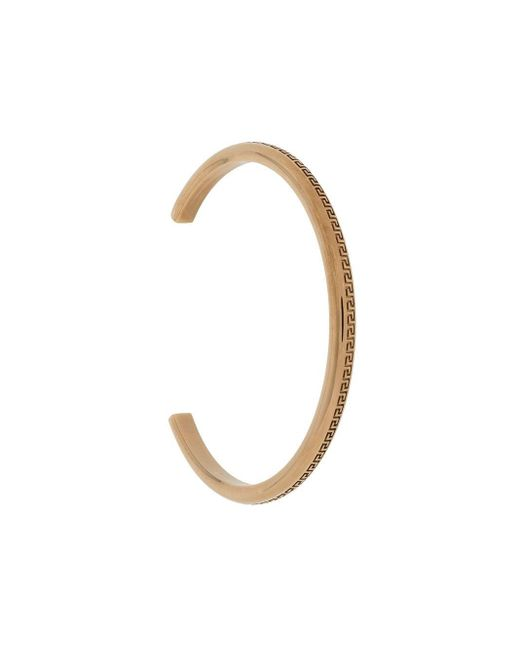 Versace Metallic Greca Bangle Bracelet