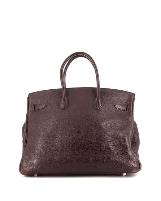 Hermès プレオウンド バーキン 35 ハンドバッグ Purple