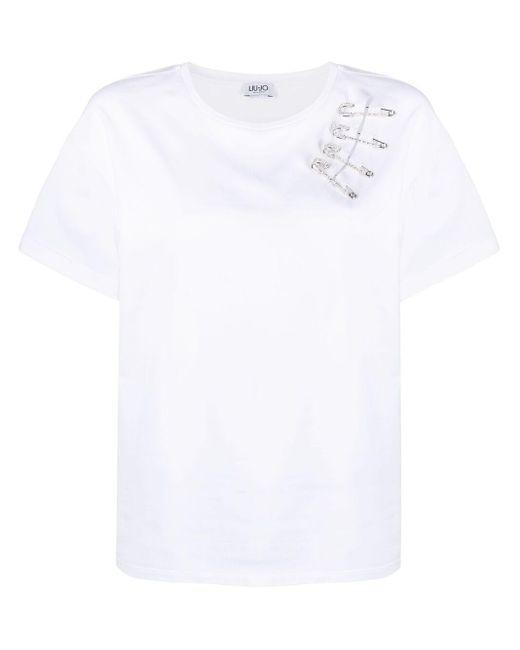 Liu Jo セーフティピンディテール Tシャツ White