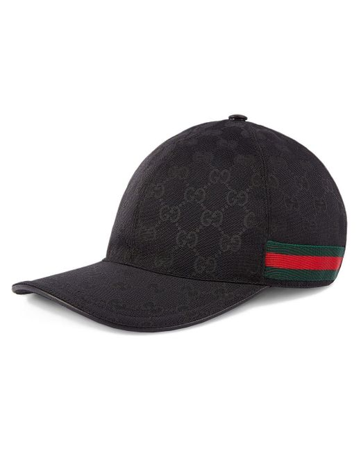Gucci Original GG Canvas Honkbalpet Met Web in het Black voor heren