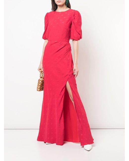 Saloni ポルカドット ドレス Pink