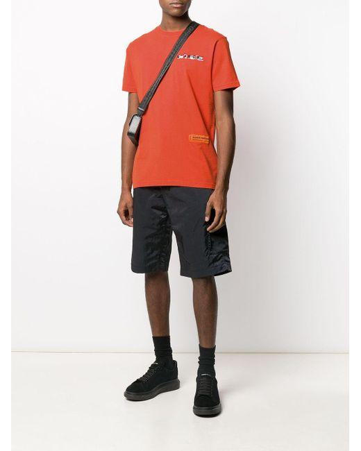 Camiseta con logo y manga corta Heron Preston de hombre de color Orange