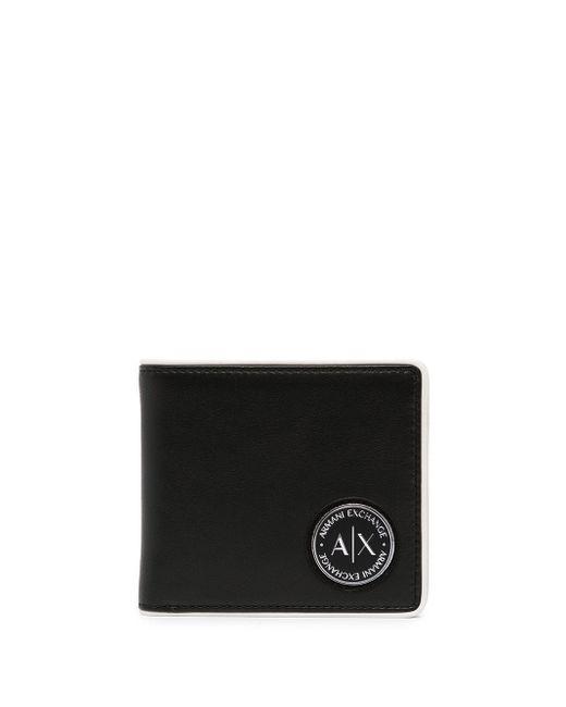 メンズ Armani Exchange 二つ折り財布 Black