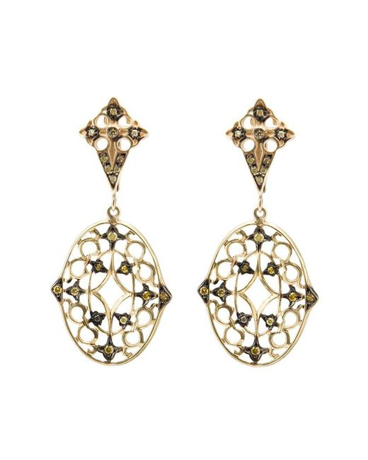 Loree Rodkin | Yellow Lace Diamond Drop Earrings | Lyst