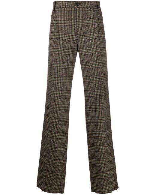 メンズ Dolce & Gabbana チェックパンツ Multicolor