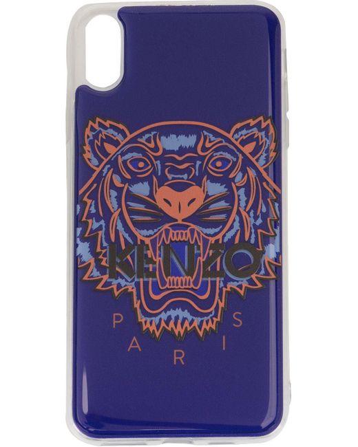 KENZO タイガー Iphone Xs Max ケース Purple