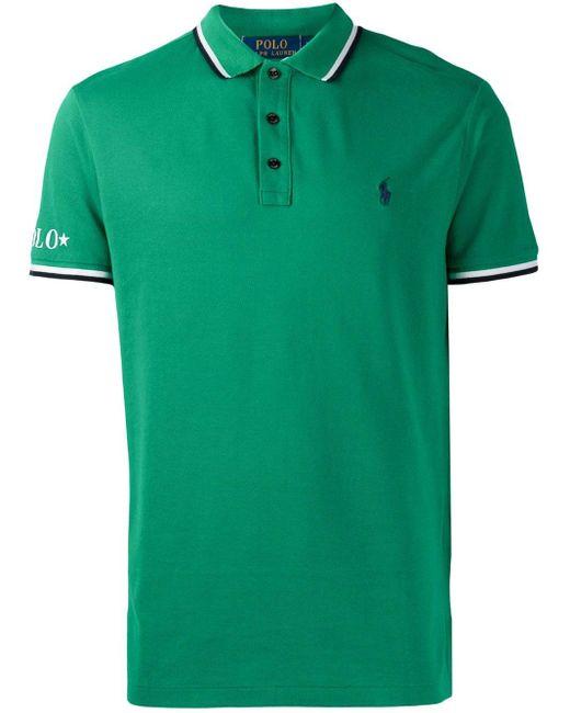 メンズ Polo Ralph Lauren ストライプ ポロシャツ Green
