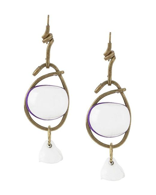 Marni - White Stacked Earrings - Lyst