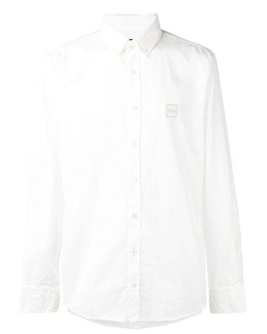BOSS - White Classic Shirt for Men - Lyst
