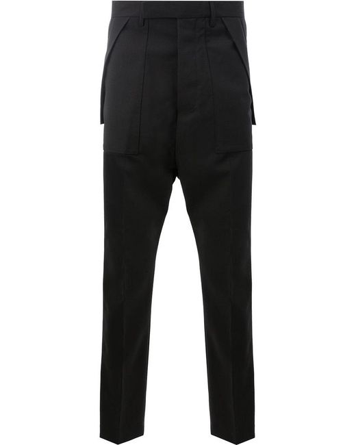 Rick Owens | Black Tailored Cargo Pants for Men | Lyst