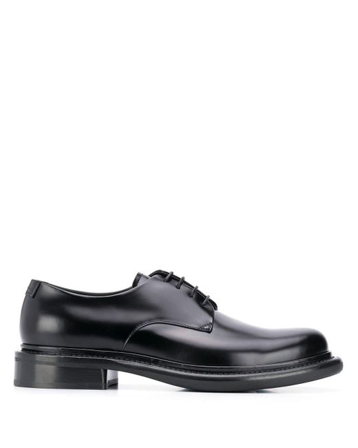 Оксфорды На Шнуровке Giorgio Armani для него, цвет: Black