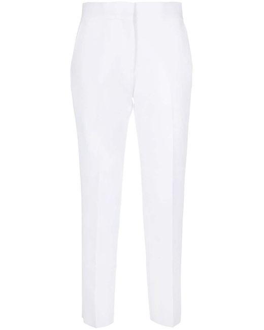 Pantaloni sartoriali slim di MSGM in White