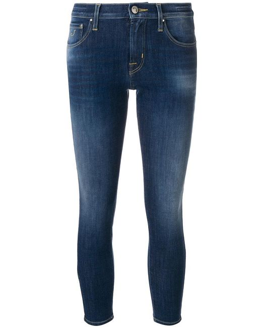Jacob Cohen - Blue Cropped Skinny Jeans - Lyst