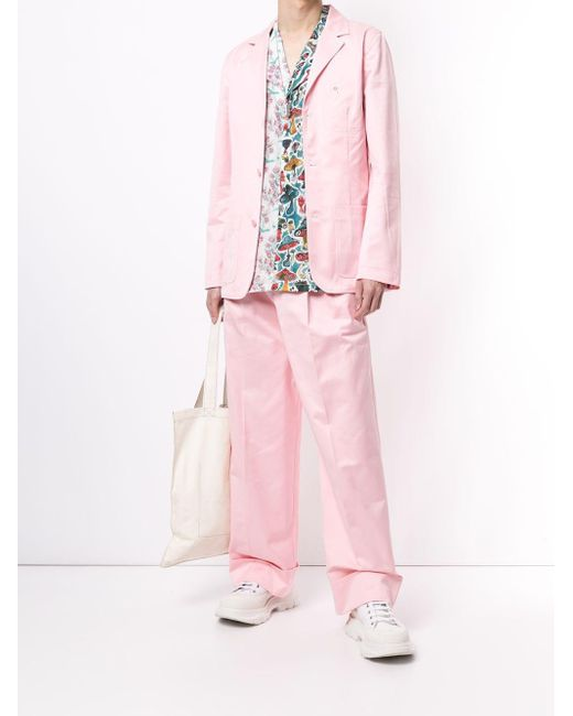 メンズ CHARLES JEFFREY LOVERBOY ワイドパンツ Pink