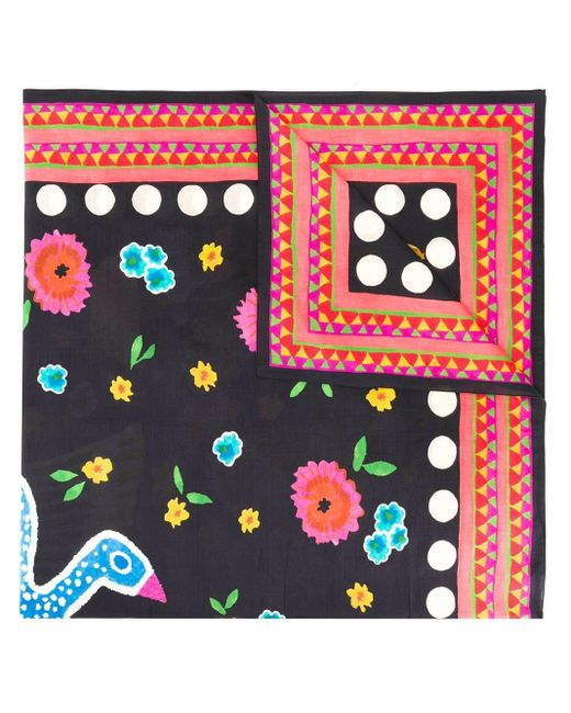 LaDoubleJ プリントスカーフ Multicolor