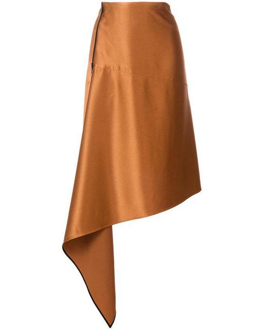 Petar Petrov - Brown Asymmetric A-line Skirt - Lyst