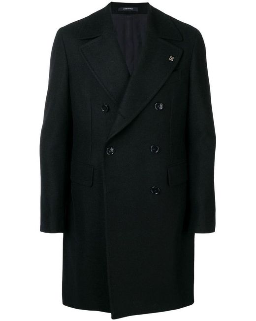 Tagliatore - Blue Double-breasted Coat for Men - Lyst