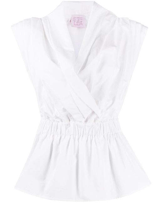 Stella Jean プリーツ ラップシャツ White