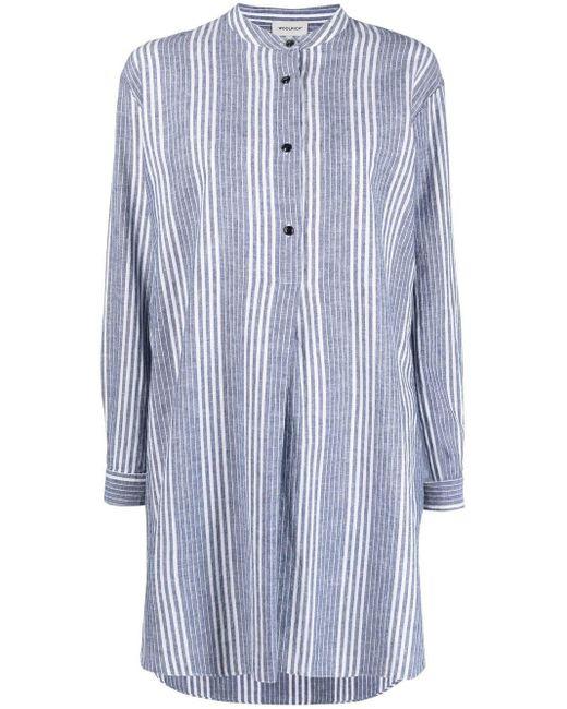 Woolrich ストライプ シャツ Blue