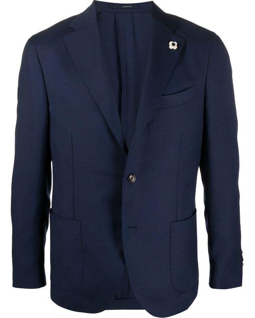 メンズ Lardini シングル ジャケット Blue