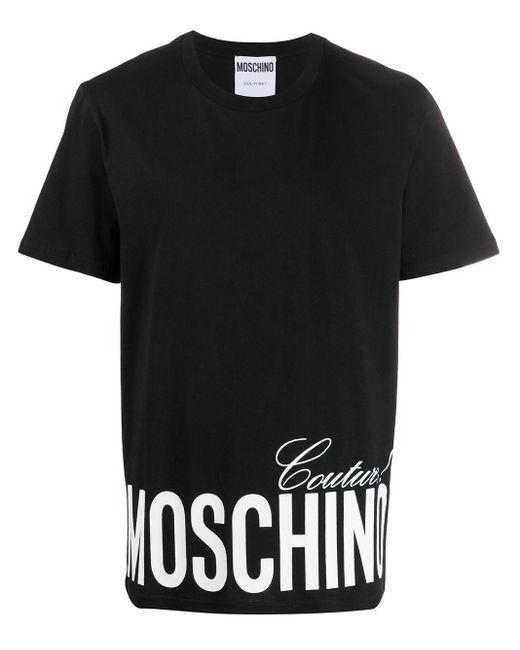 メンズ Moschino ロゴ Tシャツ Black