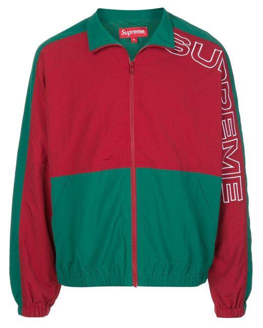メンズ Supreme バイカラー トラックジャケット Red