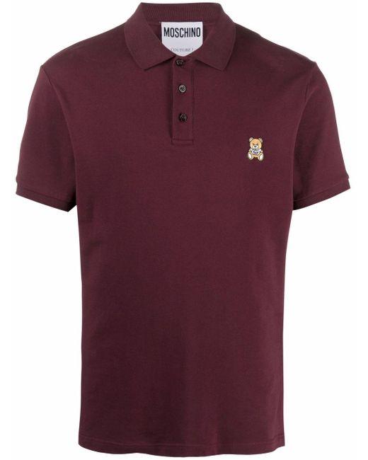 Рубашка Поло С Вышивкой Teddy Moschino для него, цвет: Red