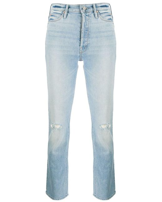 Mother Blue Dazzler Mid-rise Slim Jeans