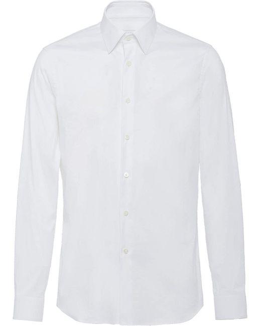 メンズ Prada クラシック シャツ White