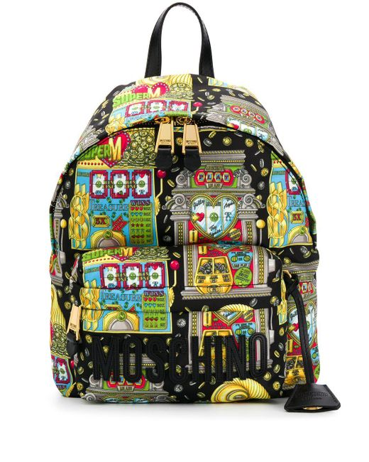 Moschino プリント バックパック Multicolor