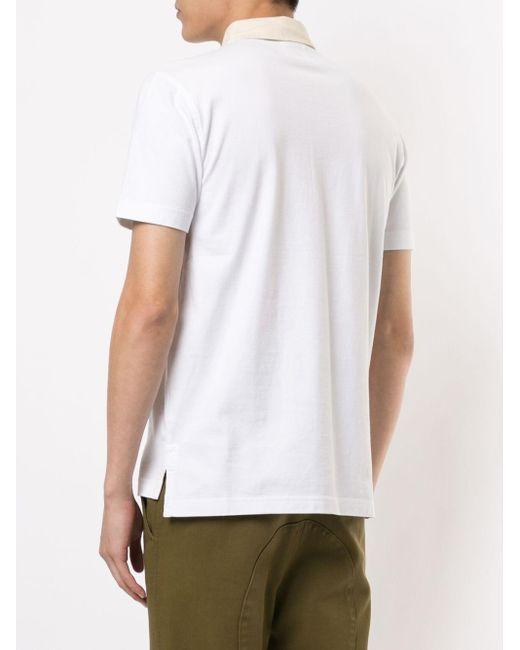 メンズ Kent & Curwen コントラストカラー ポロシャツ White