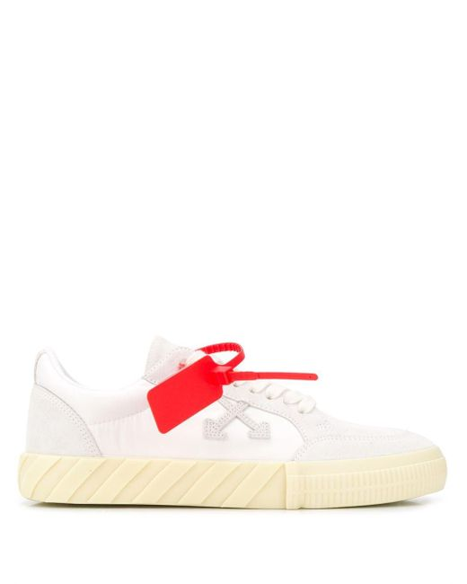 Off-White c/o Virgil Abloh White Vulcanized Low-top Sneakers for men